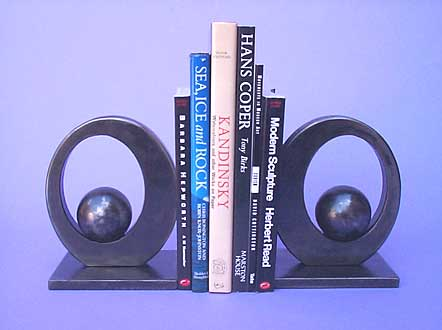 bookends in a modern stylish design, a contemporary piece of sculpture