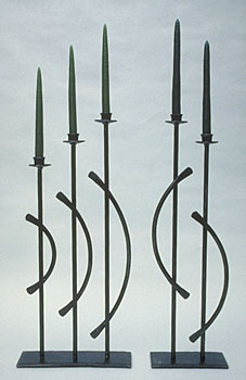 designer candlestands in metal