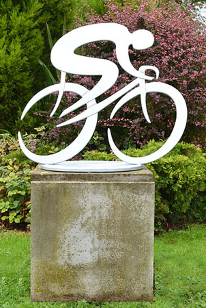 cycling sculpture, bicycle sculpture, road cycling art, bicycle sculpture, cyclist sculpture