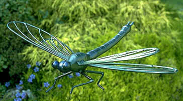 sculpture of a dragonfly for garden pools and water features