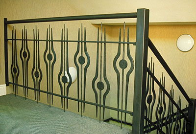 railings for aa balcony in forged metal at Bromsgrove Golf Centre