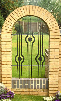 wrought iron railings for a private house