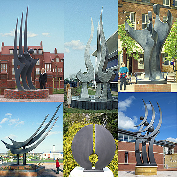 large contemporary sculpture for public sites, parks, urban environments and residential ares