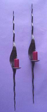 metal wall sconce candlesticks